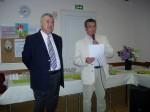 Monsieur Yves SULTAN,Président de l'Association Music' Arts et Monsieur Roger BOULLONNOIS, Délégué suppléant de Monsieur Jean-François COPE