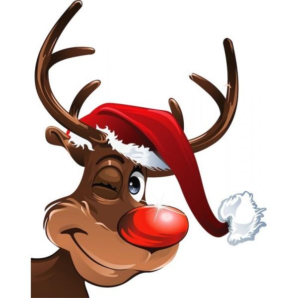 Les Renne Du Pere Noel.Marchémoret Stickers Comete Le Renne Du Pere Noel