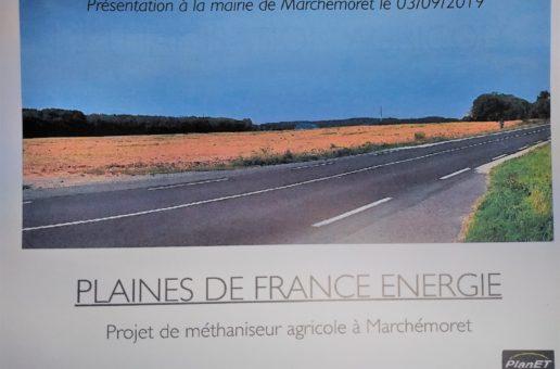 Présentation d'un projet d'une unité de méthanisation agricole – SAS Plaines de France Energie